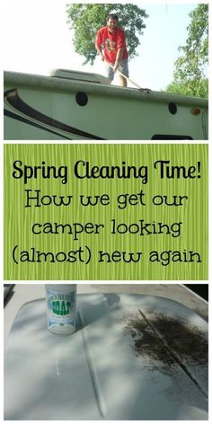 Spring cleaning the camper. Find out what these campers found works for them. It may work for you too!