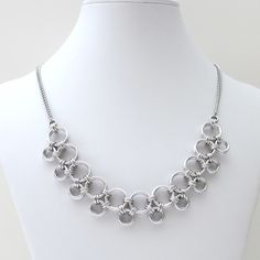 Japanese style chainmaille necklace, $55.00 #chainmaille #fashion #jewelry