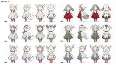 制作に先立つキャラクターデザインイラスト