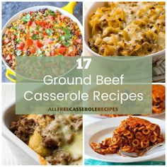Ground beef is a wonderfully versatile ingredient that makes any casserole more satisfying and delicious. At AllFreeCasseroleRecipes, we love ground beef casseroles which is why we've created this collection of 100 Easy Ground Beef Casserole Recipes. Easy Ground Beef Casseroles, Ground Beef Recipes, Beef Casserole Recipes, Casserole Dishes, Mince Dishes, Freezer Meals, Macaroni And Cheese, Food To Make, Casserole Carrier