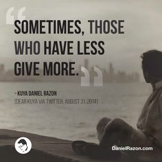 It's better to give than to receive. Wise Quotes, Quotes To Live By, Tagalog Quotes, Godly Man, True Words, Bible, Sayings, Memes, Bro