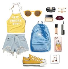 BACK TO SCHOOL #3 by lunahere on Polyvore featuring Hollister Co., Chicnova Fashion, Converse, Vanessa Mooney, Accessorize, Casetify, MAC Cosmetics and Givenchy
