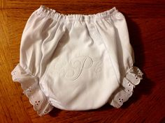 Monogrammed diaper cover