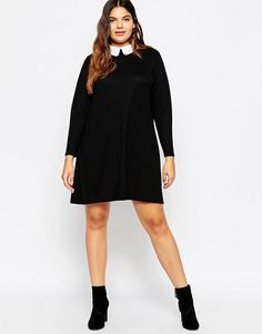 ASOS Curve | ASOS CURVE Knitted Swing Dress With Cute Collar