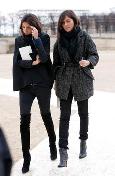 How would you define French-girl style? Saturday Night Live gave us their take over the weekend, but all we have to do is point to a picture of French fashion editors like Emmanuelle Alt and Geraldine Saglio to get our point across. How chic is that belted coat?