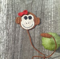 Crochet Bookmark Monkey Gift for children Gift for coworker Back to school