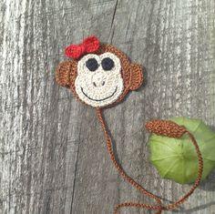 Crochet Bookmark Monkey Gift for children Gift for by ElenaGift