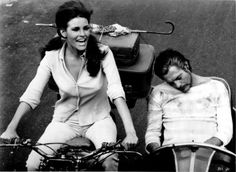 Raquel Welch and Marcello Mastroianni in Shoot Loud, Louder.I Don't Understand directed by Eduardo De Filippo, 1966 Marcello Mastroianni, I Dont Understand, Raquel Welch, Cinema, Hollywood, Female, Couple Photos, Men, Board