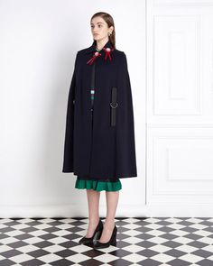At that time of year and this would be a worth investment for my wardrobe ❄️  navy-red Joanne Hynes Navy Cape