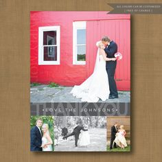 Personalized wedding thank you cards. Available at Boardman Printing.