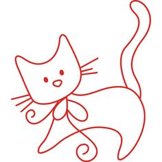 Embroidery Pattern Cute Kitten. Tutorial on Embroidery 101 from Instructables. jwt