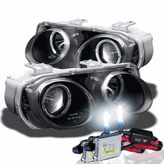 2000 Integra Ls Hid Xenon Angel Eye Halo Projector Headlights Custom Eyes