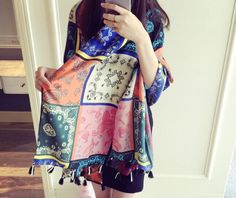 NEW ARRIVAL!!! Colorful graffiti geometric printing tassel cotton scarf wholesale fashion women long warm winter shawl-in Scarves from Women's Clothing & Accessories on Aliexpress.com | Alibaba Group