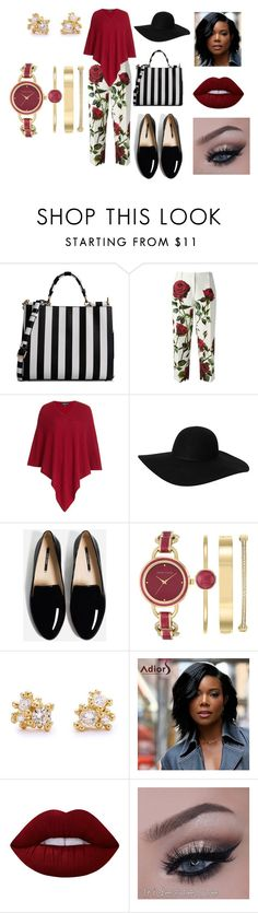 """""""Brunch Bound"""" by ameena-norrise on Polyvore featuring Dolce&Gabbana, Etro, Monki, Anne Klein, Ruth Tomlinson, Lime Crime, floral, fun and fresh"""