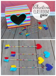 Valentine Classroom game with Apple Barrel Craft Paint – A girl and a glue gun - Valentinstag Kinder Valentines, Valentine Crafts For Kids, Valentines Day Food, Valentines Day Activities, Valentine Party, Valentines Party Ideas For Kids Games, Ideas Party, Valentinstag Party, Kids Crafts