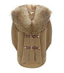 View the Fur Trim Poncho