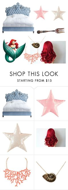 """""""LIttle mermaid"""" by gamonmichelle on Polyvore featuring interior, interiors, interior design, home, home decor, interior decorating, Haute House, Humble Chic, Disney and bed"""