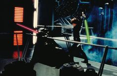 Luke defeats Darth Vader in their final confrontation.