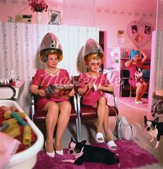 Retro salon... look at all the Bostons too!!!!