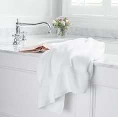 Step out of your romantic bubble bath and into a luxurious towel #bollandbranch