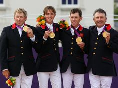 Nick Skelton, Ben Maher, Scott Brash and Peter Charles took gold for GB in the team showjumping