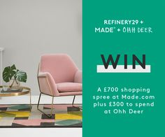 Enter To Win A £700 Shopping Spree At Made.com Christmas Competitions, Ohh Deer, Shopping Spree, Interior Design Inspiration, Fun Things, Bathroom Ideas, Architecture Design, House Ideas, Branding