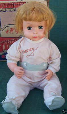"My Nancy Nurse doll..press her belly and she said, ""My tummy hurts."""