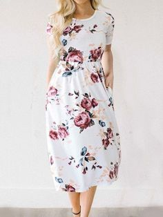 Feeling Gorgeous Floral Print Dress | sunaai