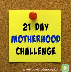 "If you're feeling ""mommy fatigue"" or simply want to bring more joy to motherhood, you'll love this thought-provoking post by Amanda and the accompanying 21-Day Motherhood Challenge. (Start now, and you'll finish before Mother's Day!)"