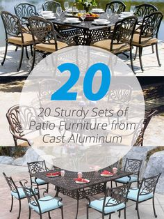 20 Sturdy Sets of Patio Furniture from Cast Aluminum | Home Design Lover