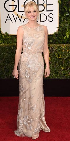 Golden Globes 2015: Red Carpet Arrivals - Anna Faris from #InStyle #2015goldenglobes #redcarpet