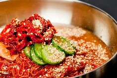 Cold noodle with spicy pollack.