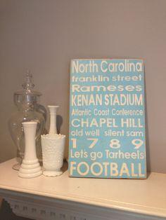 UNC Chapel Hill Distressed Decorative Sign by PorchSwingPrimitives, $65.00