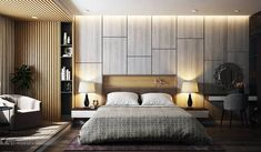 Side table and extended table design Hotel Room Design, Luxury Bedroom Design, Modern Bedroom Decor, Contemporary Bedroom, Interior Design Living Room, Bedroom Sets, Home Bedroom, Bedroom Wall, Master Bedroom