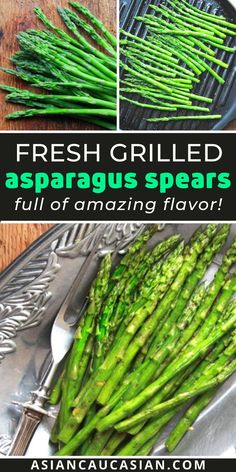 This is the easiest Grilled Asparagus Spears recipe on the planet! And they cook up beautifully, especially when grilled. Perfect as a spring or summer side dish, this easy grilled veggie recipe pairs well with any protein! Super nutritious and healthy too! Side Dish Recipes, Veggie Recipes, Asian Recipes, Healthy Recipes, Asian Side Dishes, Summer Side Dishes, Asparagus Spears, Grilled Asparagus, Dinners To Make