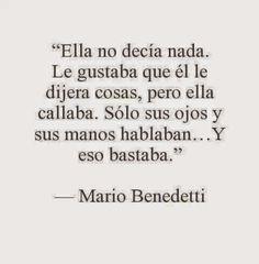 Poema e Versos: Mario Benedetti - Ella no decía nada - Poesia visualma