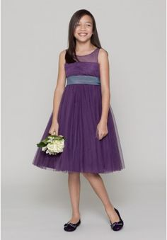 Organza Jewel A-Line Short Junior Bridesmaid Dress - Bridesmaid - WHITEAZALEA.com