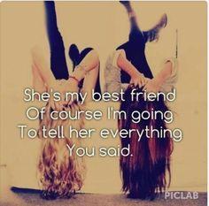 She is my best friend..