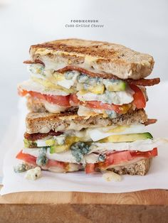 Cobb Grilled Cheese. Without the blue cheese and with cheddar this would be bomb!