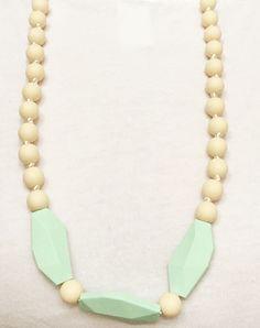 Zahnen Halskette - Mintblau – Georgie Bear Baby