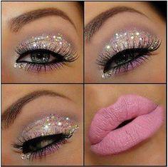 Glitter make up. [ hairburst.com ] #makeup #style #natural