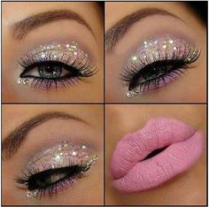 Glitter make up. [ hairburst.com ] #makeup #style #natural