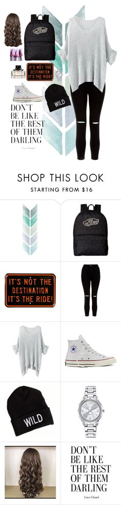 """""""Untitled #3800"""" by if-i-were-famous1 ❤ liked on Polyvore featuring Vans, New Look, Converse, American Eagle Outfitters and Mestige"""