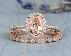 HANDMADE RINGS & BRIDAL SETS by MoissaniteRings on Etsy Bridal Ring Sets, Handmade Rings, Engagement Rings, Morganite Engagement, Gold Rings, Trending Outfits, Etsy Seller, Unique Jewelry, Rose Gold