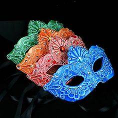 Máscaras Venecianas de colores   Disfraces Originales