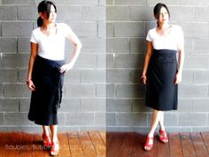Convertible pieces - Intimo skirt/dress worn as a skirt in two ways