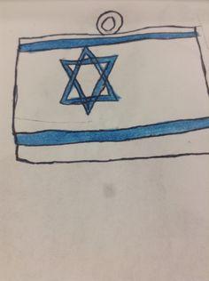 Israeli flag charm