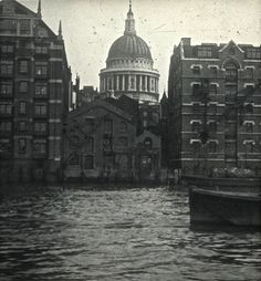 St Paul's Cathedral from Bankside, c. 1920