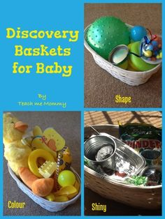 Put together discovery baskets for your baby to explore!