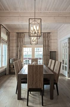 Harmonious colour scheme and natural materials make Honka log homes a cozy and warm living environment. Cozy Living Rooms, Home And Living, Decor Interior Design, Interior Decorating, Interior Modern, Interior Walls, Kitchen Interior, Warm Dining Room, Dining Rooms